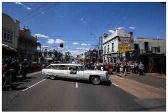 The Last Hurrah funeral company's 1973 Cadillac hearse.