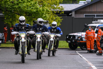 Police on motorbikes joined the search.