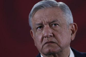 Mexican President Andres Manuel Lopez Obrador.
