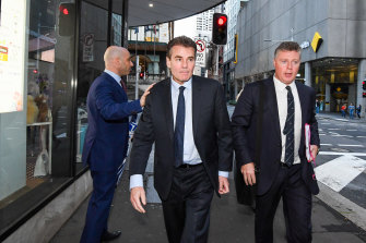 Dr Tim Steel leaves court in Sydney this week.