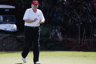 Trump at his Palm Beach golf club: You can air condition the 19th hole, but not the golf course.
