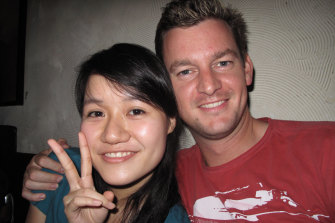 "Chris Blain met Tzuyen ""Evelyn"" Huang in a Taipei hotel lobby in 2009. Evelyn's mother visited clairvoyants to try and ""cast the Australian demon from their lives""."