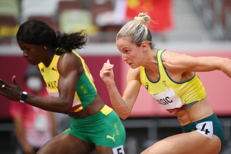 Australia's Hana Basic had her eyes opened to the difference of Olympic competition.