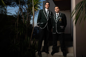 "Jamie Christopoulos will take over as Trinity Grammar captain from older brother Spiro in term four. The brothers are ""gutted"" they might miss out on celebrating their big achievement with family."