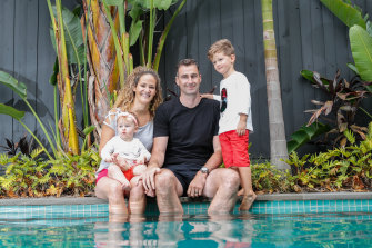 Fleur and Brad Phelan met during the Pier to Pub swim in 2011 and now have two children, Rose, 11 months, and Louis, 3.