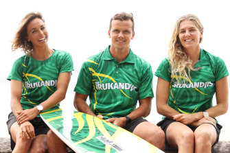 Sally Fitzgibbons, Julian Wilson and Stephanie Gilmore will surf for Australia, along with Owen Wright.