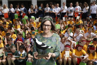 Author Ursula Dubosarsky is announced as Australia's new Children's Laureate at the National Library in Canberra.