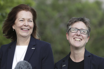 ACTU President Michele O'Neil and Secretary Sally McManus.