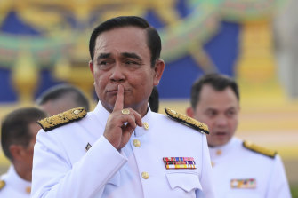 """Thai Prime Minister Prayut Chan-o-cha dismissed Thammanat Prompao's heroin trafficking past as a """"small issue""""."""