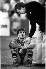 One that got away: Balmain coach Warren Ryan commiserates skipper Wayne Pearce.