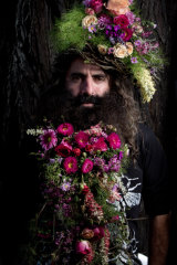 Floral beards at the Ekka.
