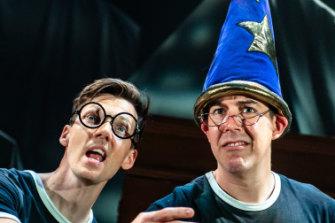 Scott Hoatson, left andJoseph Maudsley in <i>Potted Potter</i>.