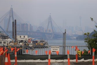 Smoke haze has settled over Sydney for the past couple of days and may have a while to run yet.