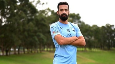 Sydney FC captain Alex Brosque on Tuesday as he announces his retirement from football.