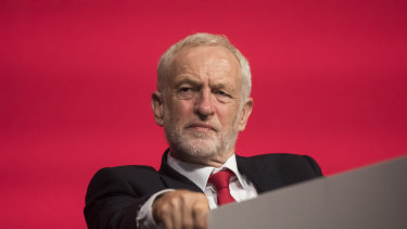 Jeremy Corbyn at Labour's annual conference in Liverpool.