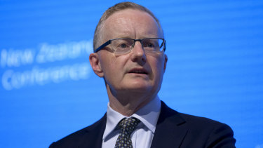 The tumbling greenback is a big problem for RBA governor Philip Lowe.