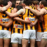 'Shot in the groin': Hawks in court over armed pokies stick-up