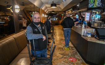 Notturno restaurant owner Salvatore Cultrera in his Lygon Street venue.