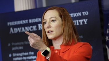 White House press secretary Jen Psaki, says the US is pushing for a lasting peace between Israel and the Palestinians.