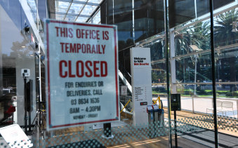 Staff will begin to return to NAB's near-empty offices from Monday.