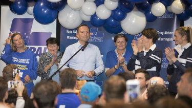Tony Abbott admits defeat to Independent Zali Steggall for the seat of Warringah at Manly Leagues Club.