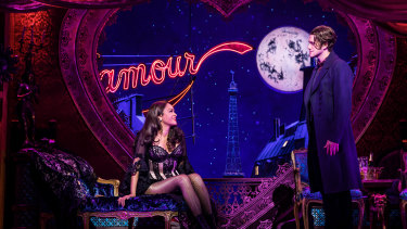 Karen Olivo as Satine and Aaron Tveit as Christian in Moulin Rouge! The Musical. The producers have announced an Australian production will open in 2021.