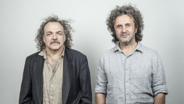 Jim White (left) and George Xylouris return to Australia in March.