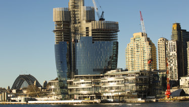 Crown's is seeking to increase the number of apartments and car parks at its Barangaroo casino and residential tower.