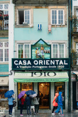Storefronts in the city of Porto, Portugal. Hotels, restaurants and shops have opened in droves, fuelled by a tourism surge.