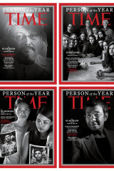 "Ressa, bottom right, was one of Time's Persons of the Year in 2018. The four covers, which Time called the ""guardians and the war on truth,"" were selected ""for taking great risks in pursuit of greater truths [...] for speaking up and speaking out."""