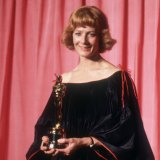 Vanessa Redgrave with the Oscar she won for Julia. Her controversial acceptance speech put paid to her Hollywood career for decades.