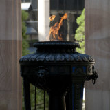 The Eternal Flame in the Shrine of Remembrance in Anzac Square in the heart of Brisbane.
