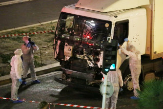 Islamic State has claimed responsibility for a string of attacks on Western targets. A truck ploughed through Bastille Day crowds in the French city of Nice in July, 2016.