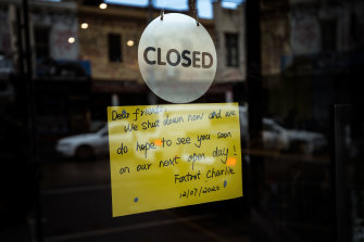 Persistent lockdowns have taken a heavy toll on businesses in Sydney and Melbourne.