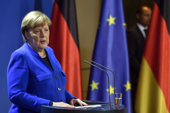 Angela Merkel, pictured, said the EU was facing its biggest ever challenge.