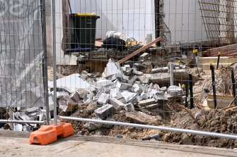 A man has been seriously injured after a wall collapsed on him in North Bondi on Monday.