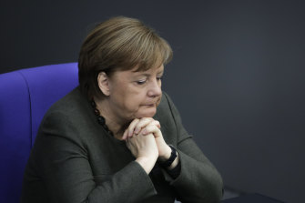 German Chancellor Angela Merkel. Her government is looking at ways to ease pressure on the economy amid the coronavirus outbreak.