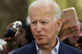 Democratic presidential candidate and former vice-president Joe Biden.