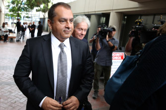 """Former Theranos COO Ramesh """"Sunny' Balwani, pictured in 2019, will be tried separately."""