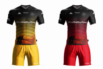 What the players will wear at ANZ Stadium on May 23.
