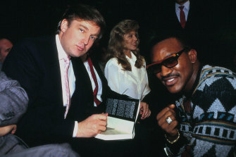 Trump and Holyfield in Atlantic City in 1989.