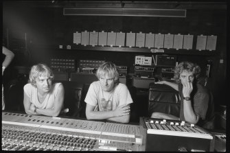 The Police in the studio in 1981, from left, Andy Summers, Sting and Stewart Copeland.