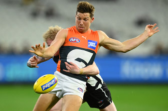 Toby Greene led the way for the Giants in their win over Collingwood.