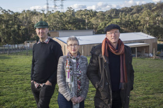 Danny, Sue and Steve Mathews, founders of the Mullum Creek estate.