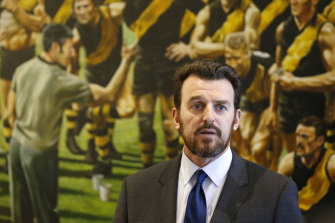 Richmond's Brendon Gale is a favourite among clubs as a possible successor to Gillon McLachlan.
