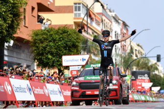 Michael Storer is just the second Australian to win two stages in a single Vuelta campaign.