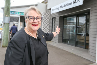 Beverley McArthur at her offices in Port Fairy.