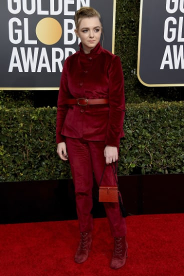 Elsie Fisher arrives at the 76th annual Golden Globe Awards.