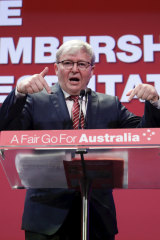 Mr Rudd said it was time for the Labor Party to put its years of division behind it.