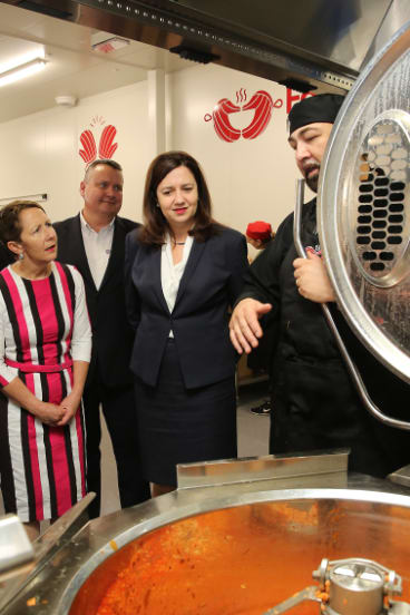 Member for Bulimba Di Farmer and Premier Annastacia Palaszczuk officially opened the FareShare kitchen at Morningside on Tuesday.
